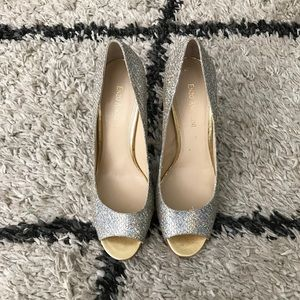 Enzo Angliolini gold silver sparkled heels
